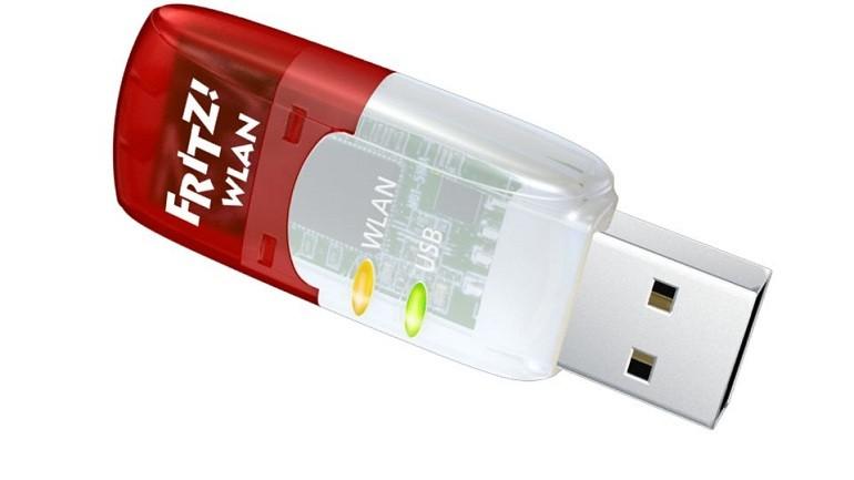 Mit dem neuen FRITZ!WLAN Stick AC 430 erweitert AVM seine WLAN-Stick-Reihe für den kommenden AC-Standard. Eine Übertragungsrate von bis zu 433 MBit/s, die kompakte Bauform, einfache Installation und die WPA2-Verschlüsselung sorgen für schnellen und sicheren WLAN-Surfspaß. Der Stick unterstützt die Frequenzen 2,4 GHz oder 5 GHz und ist abwärtskompatibel zu WLAN 11b/g/n. The new FRITZ!WLAN Stick AC 430 is AVM's latest addition to the WLAN Stick product line for the upcoming AC standard. A transmission rate of up to 433 Mbit/s, the compact design, particularly simple installation and secure WPA2 encryption make for fun, fast and safe surfing over the wireless network. The stick supports both the 2.4-GHz and the 5-GHz frequency bands and is downward compatible to WLAN 11b/g/n.